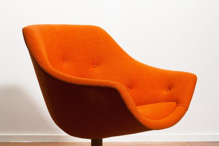 1960s, 1 'Mandarini' Swivel Armchair by Carl Gustaf Hiort and Nanna Ditzel For Sale 2