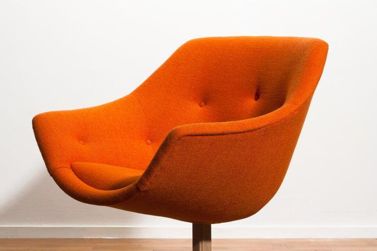 1960s, 1 'Mandarini' Swivel Armchair by Carl Gustaf Hiort and Nanna Ditzel For Sale 3