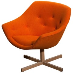 1960s, 1 'Mandarini' Swivel Armchair by Carl Gustaf Hiort and Nanna Ditzel