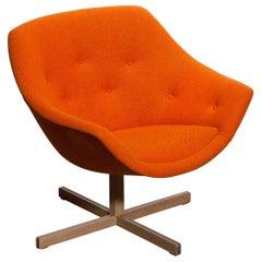 1960s, 1 'Mandarini' Swivel Armchair by Carl Gustaf Hiort and Nanna Ditzel