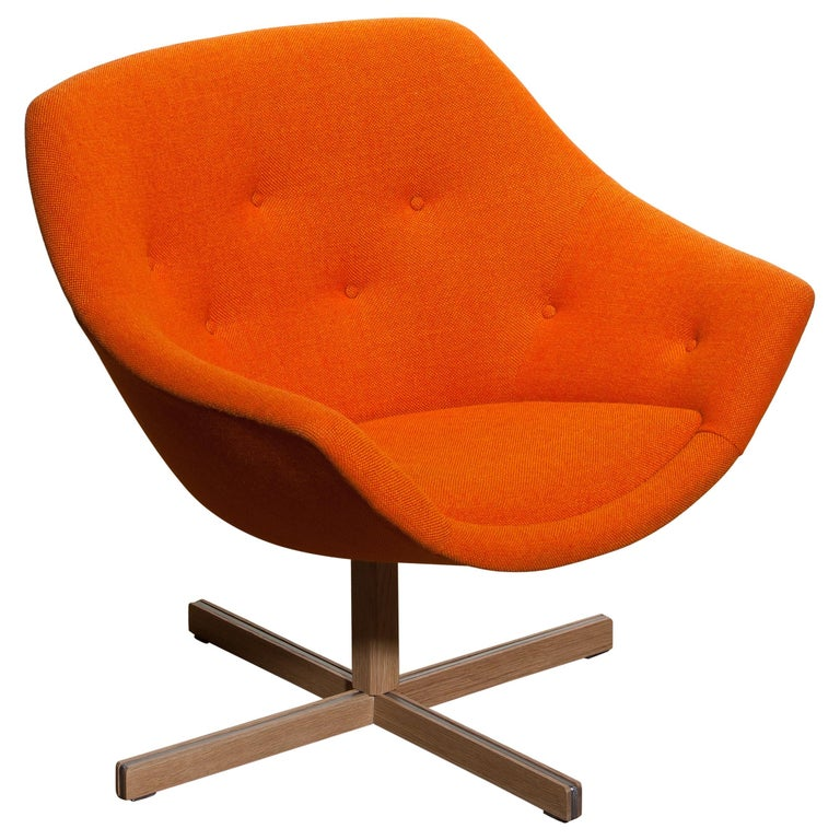 1960s, 1 'Mandarini' Swivel Armchair by Carl Gustaf Hiort and Nanna Ditzel For Sale