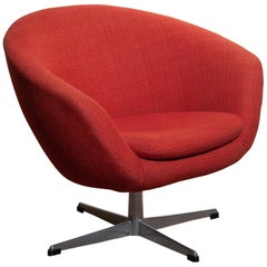 1960s, 1 Swivel Lounge Chair by Carl Eric Klote for Overman, Denmark