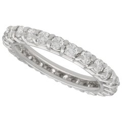 1960s 1.20 Carat Diamond and White Gold Full Eternity Ring