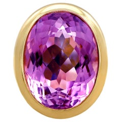 1960s 13.53 Carat Amethyst and Yellow Gold Cocktail Ring