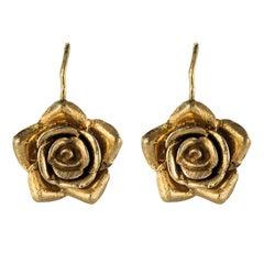 1960s 14 Karat Rose Gold Sleepers Earrings