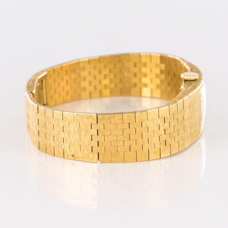 1960s 18 Karat Amati Yellow Gold Omega Ladies Watch For Sale 6