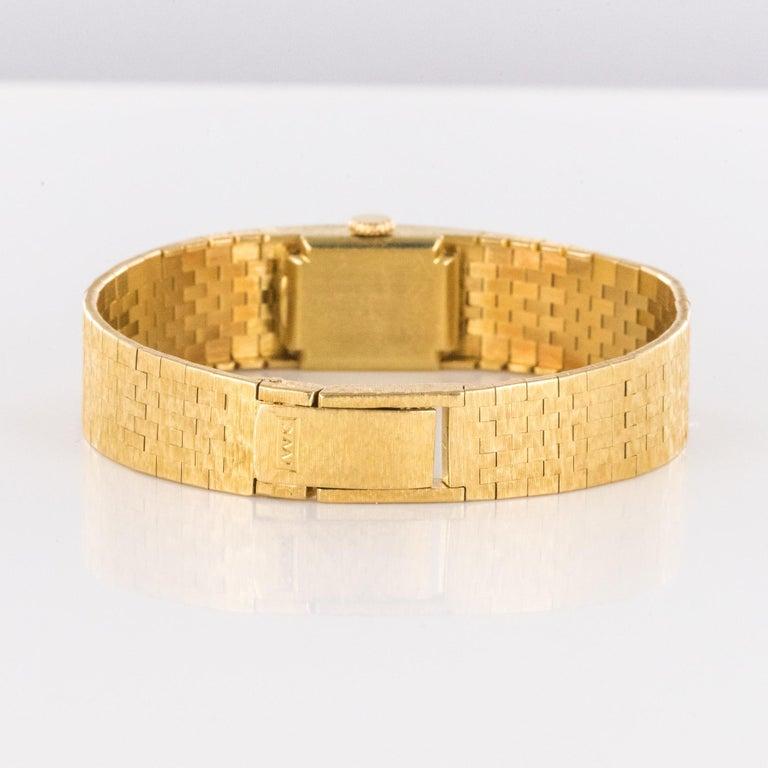 1960s 18 Karat Amati Yellow Gold Omega Ladies Watch For Sale 8
