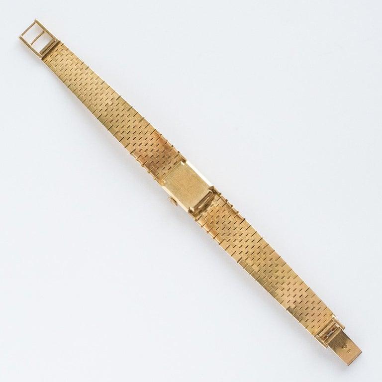 1960s 18 Karat Amati Yellow Gold Omega Ladies Watch For Sale 10