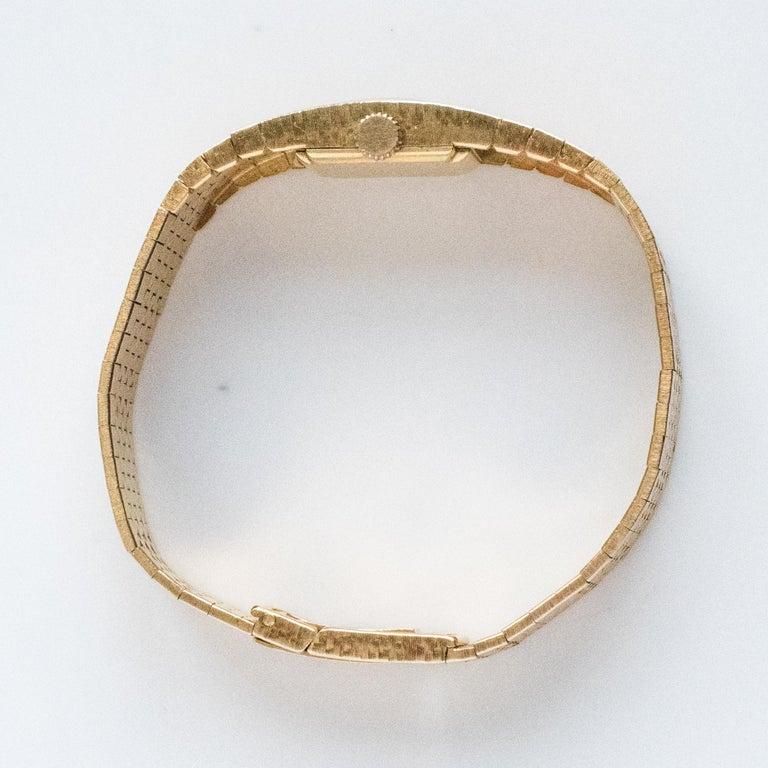 1960s 18 Karat Amati Yellow Gold Omega Ladies Watch For Sale 12