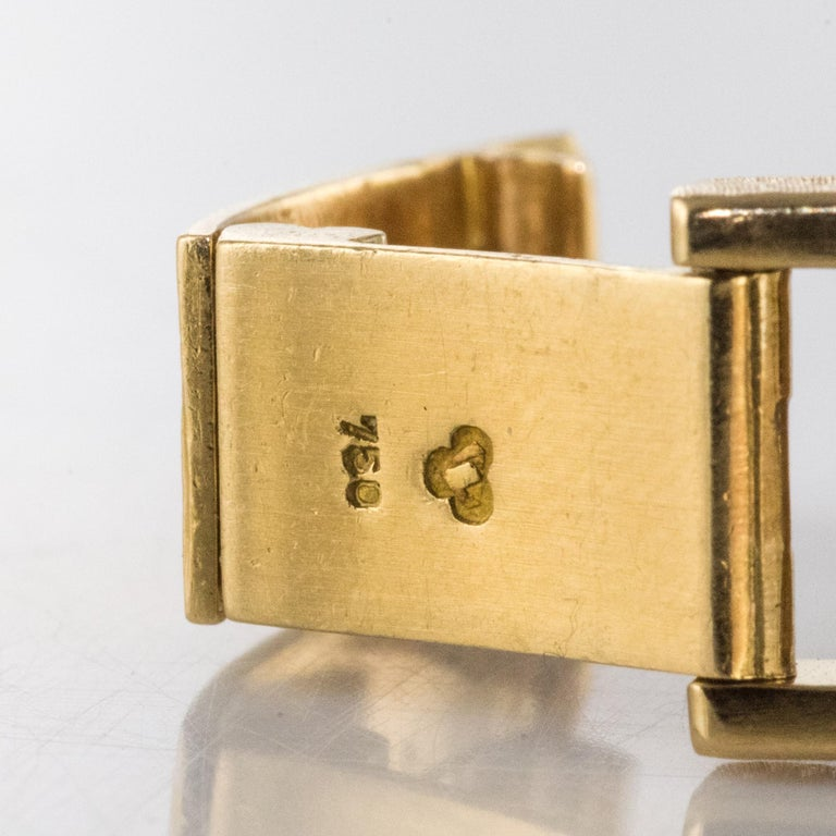 1960s 18 Karat Amati Yellow Gold Omega Ladies Watch For Sale 14