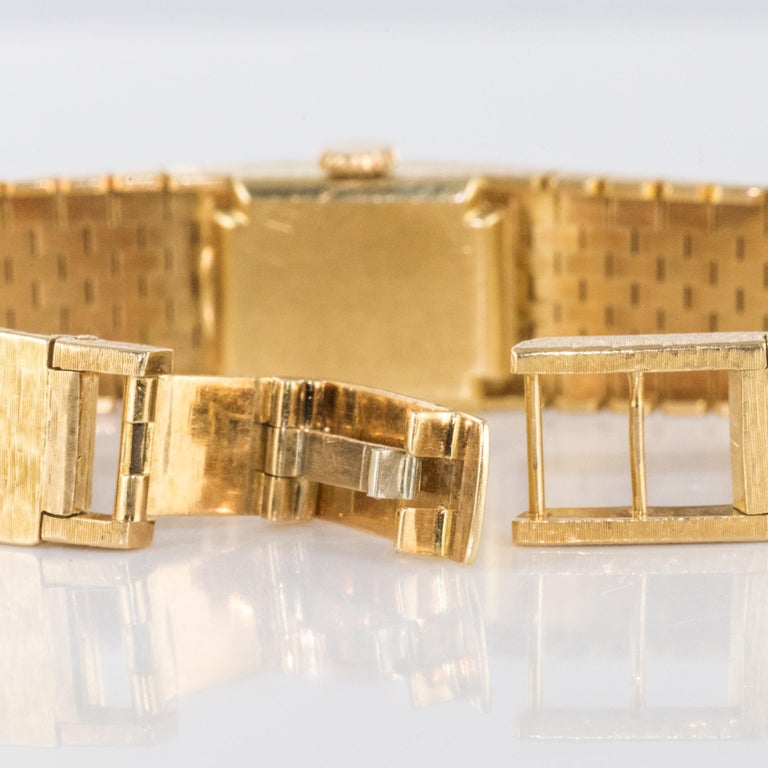 1960s 18 Karat Amati Yellow Gold Omega Ladies Watch For Sale 15