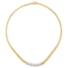 1960s 18 Karat Gold and Diamond Chocker Necklace