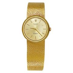 "1960s 18 Karat Gold ""Rolex"" Cellini Ladies 18 Karat Yellow Gold Watch"