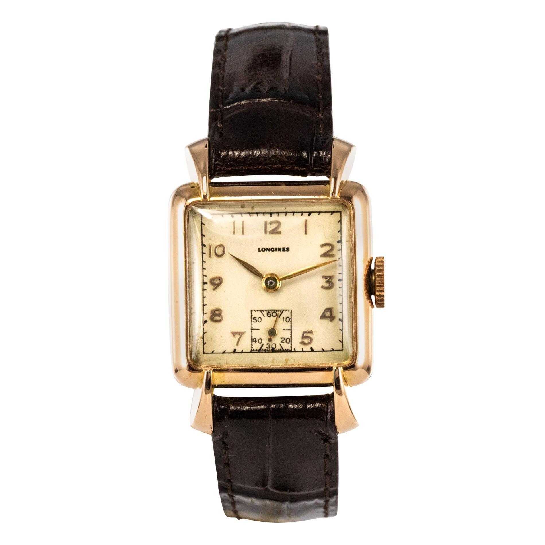1960s 18 Karat Rose Gold Longines Ladies Wristwatch