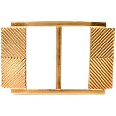 1960s 18 Karat Yellow Gold Belt Buckle