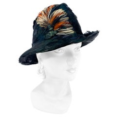 1960s/1970s Pheasant Feather Fedora Hat