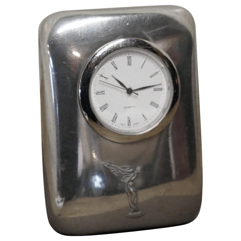 1960s-1970s Rolls Royce Sprit of Ecstasy Mascot Travel Clock
