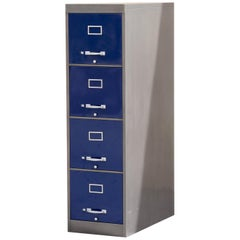 1960s 4-Drawer Vertical Filing Cabinet, Custom Refinished to Order