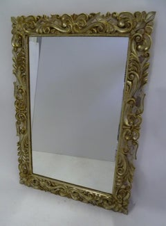 1960s-70 Large Silver Gilt Florentine Style Mirror