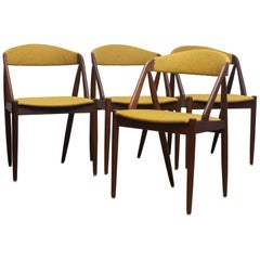 1960s, a Set of Four Dining Chairs Model 31 by Kai Kristiansen Denmark