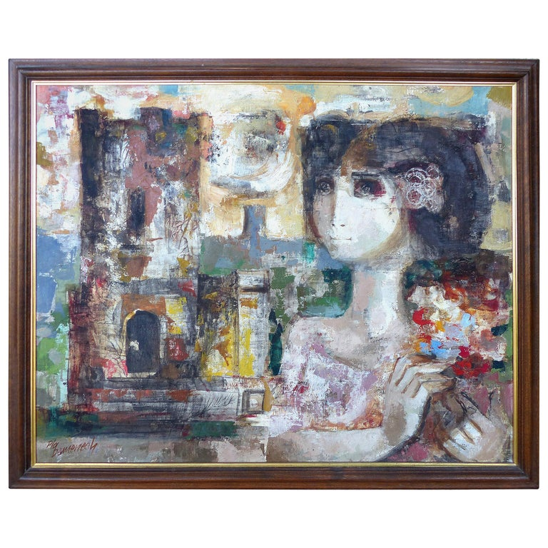 Jordi Pla Domenech Abstract Painting Listed Spanish Artist