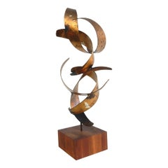 1960s Abstract Metal Art Sculpture by Bijan