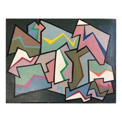 1960s Abstract Painting by Achillo Sullo