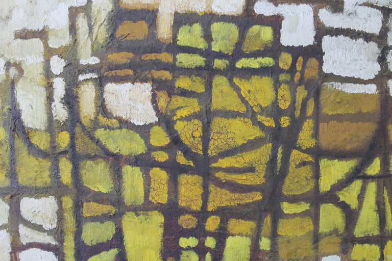 A small abstract oil on board signed G. Milton. Measures: 19.25