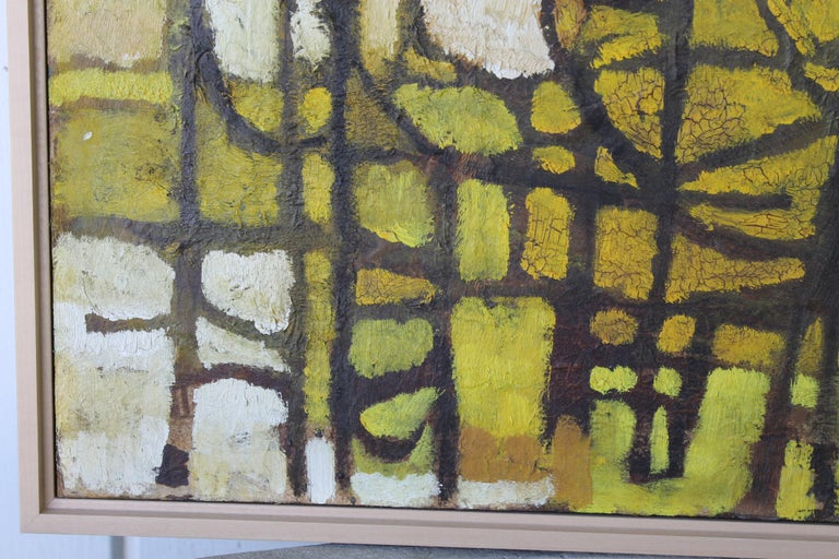 Mid-Century Modern 1960s Abstract Painting by Milton For Sale