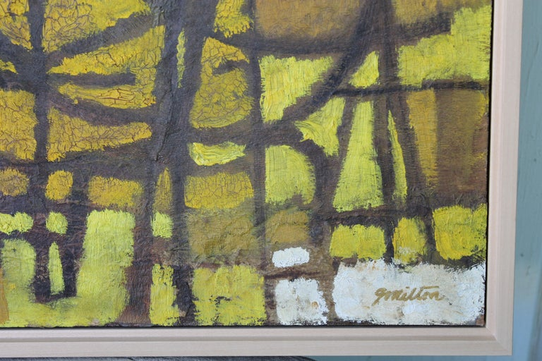 American 1960s Abstract Painting by Milton For Sale