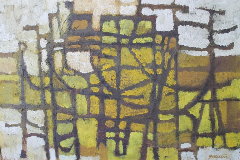 1960s Abstract Painting by Milton In Good Condition For Sale In Palm Springs, CA