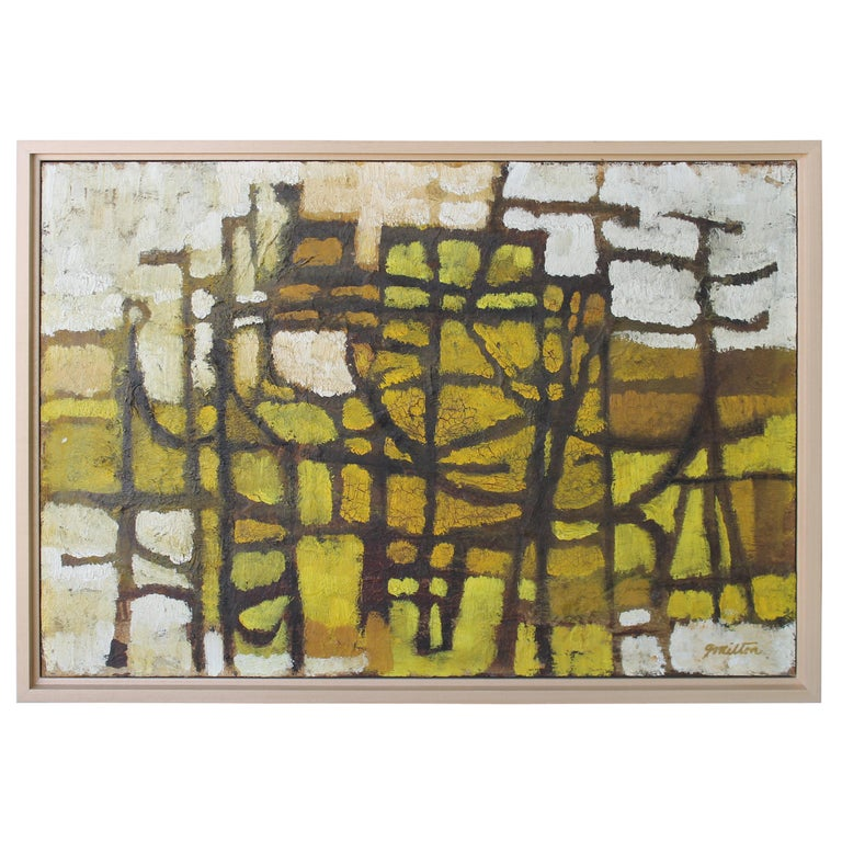 1960s Abstract Painting by Milton For Sale
