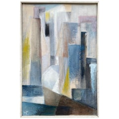 1960s Abstract Painting on Board