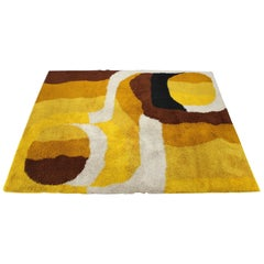 1960s Abstract Wool Carpet by Greif,Denmark