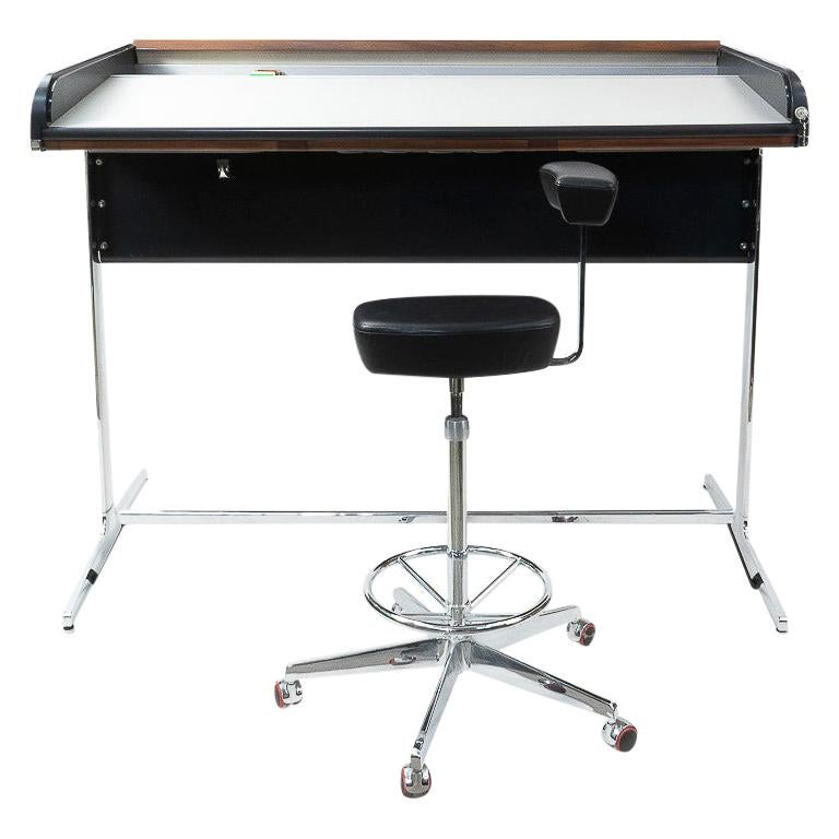1960s Action Office Standing Desk by George Nelson, Herman Miler production