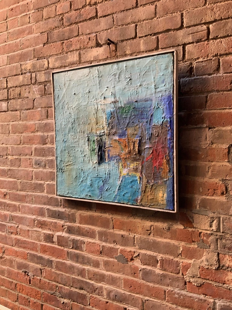 Mid-Century Modern 1960s Action Painting Manner of Philip Guston For Sale