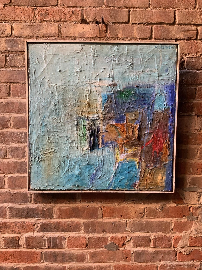 1960s Action Painting Manner of Philip Guston In Good Condition For Sale In Garnerville, NY