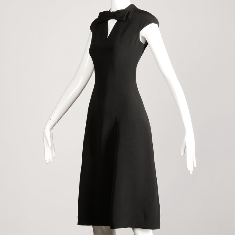 1960s Adele Simpson Vintage Little Black Dress In Excellent Condition For Sale In Sparks, NV