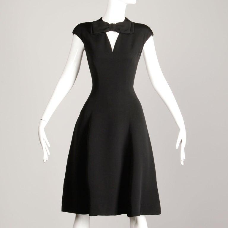 1960s Adele Simpson Vintage Little Black Dress For Sale 1