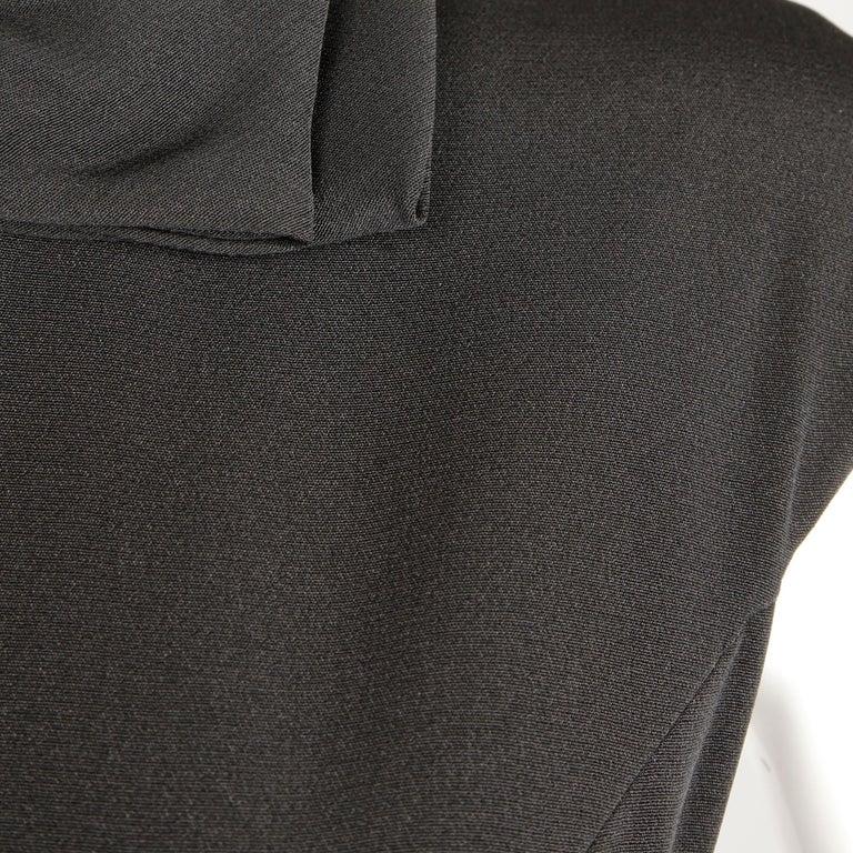 1960s Adele Simpson Vintage Little Black Dress For Sale 2