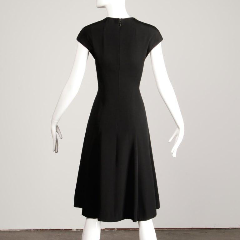 1960s Adele Simpson Vintage Little Black Dress For Sale 3