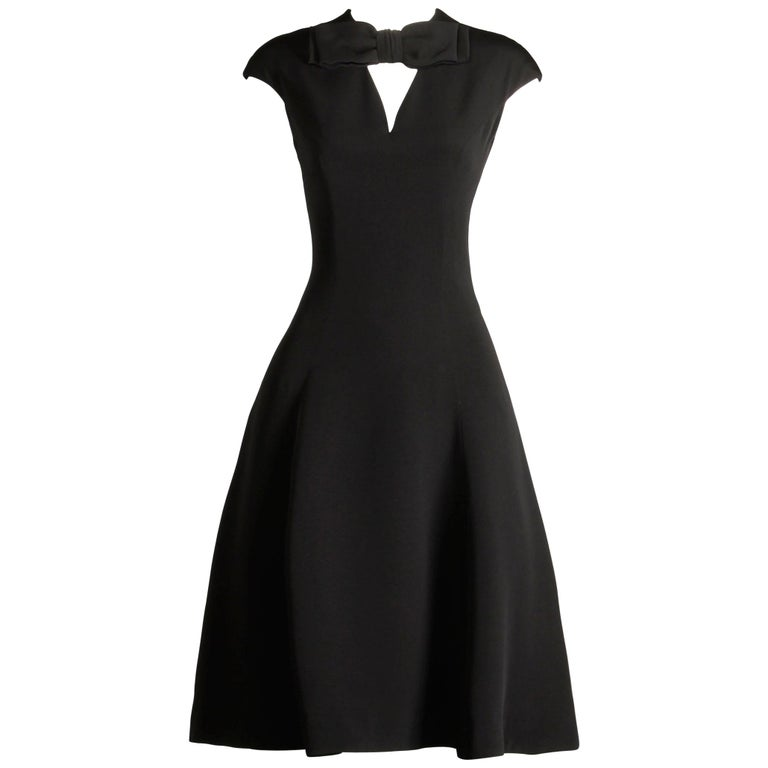 1960s Adele Simpson Vintage Little Black Dress For Sale