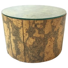 1960s Adrian Pearsall Round Cork Side Table