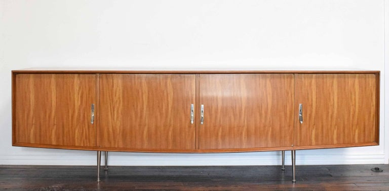 Argentine 1960s African Mahogany Sideboard For Sale