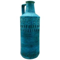 1960s Aldo Londi for Bitossi Green and Gold Vase