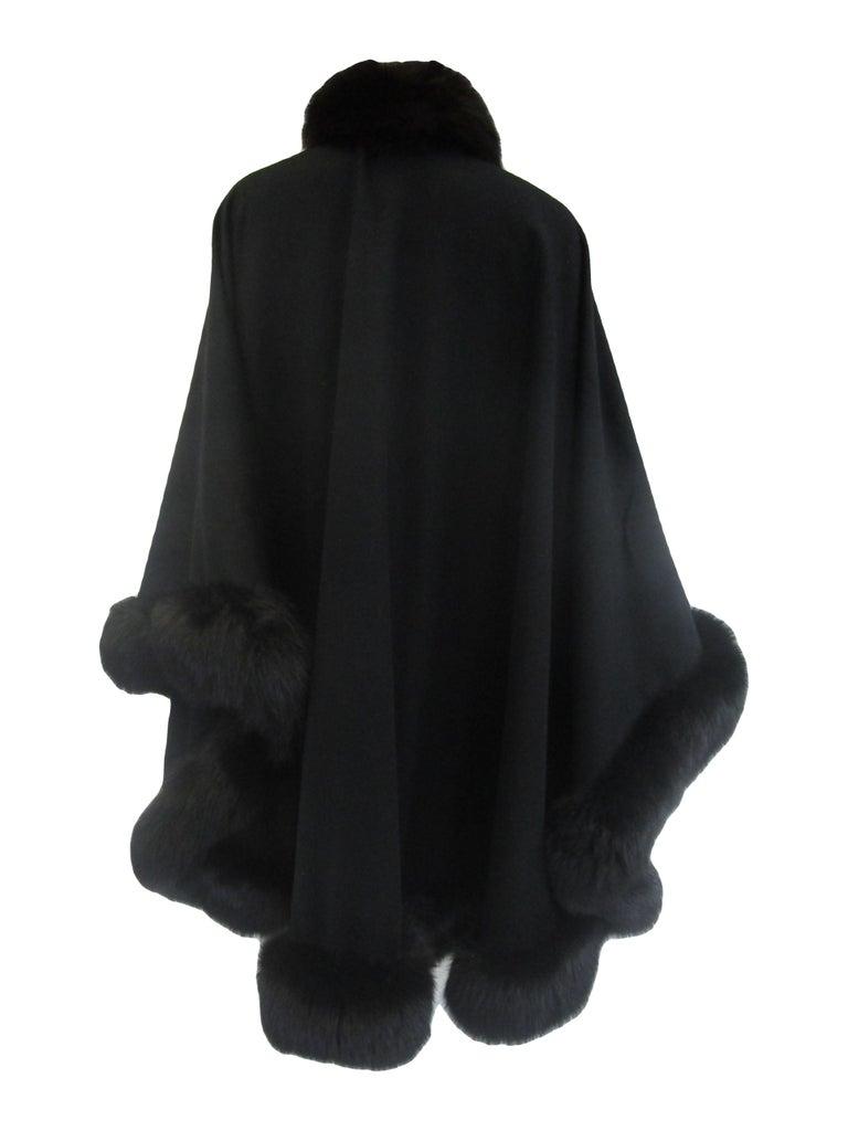1960s Alixandre Black Fox Fur Cape  For Sale 2