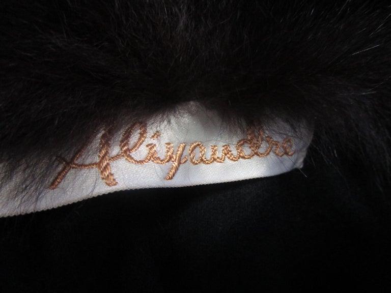 1960s Alixandre Black Fox Fur Cape  For Sale 4