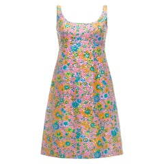 c2e3f5d4a7b63 1960s All Over Floral Sequinned Dress by Royalton