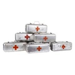 1960s Aluminium Red Cross Survival Rations Box