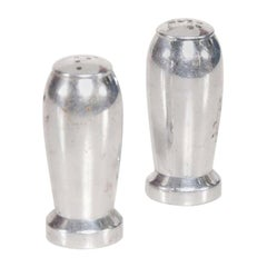 1960s Aluminum Bomb Bullet Missile Salt Pepper Shakers Airstream Industrial